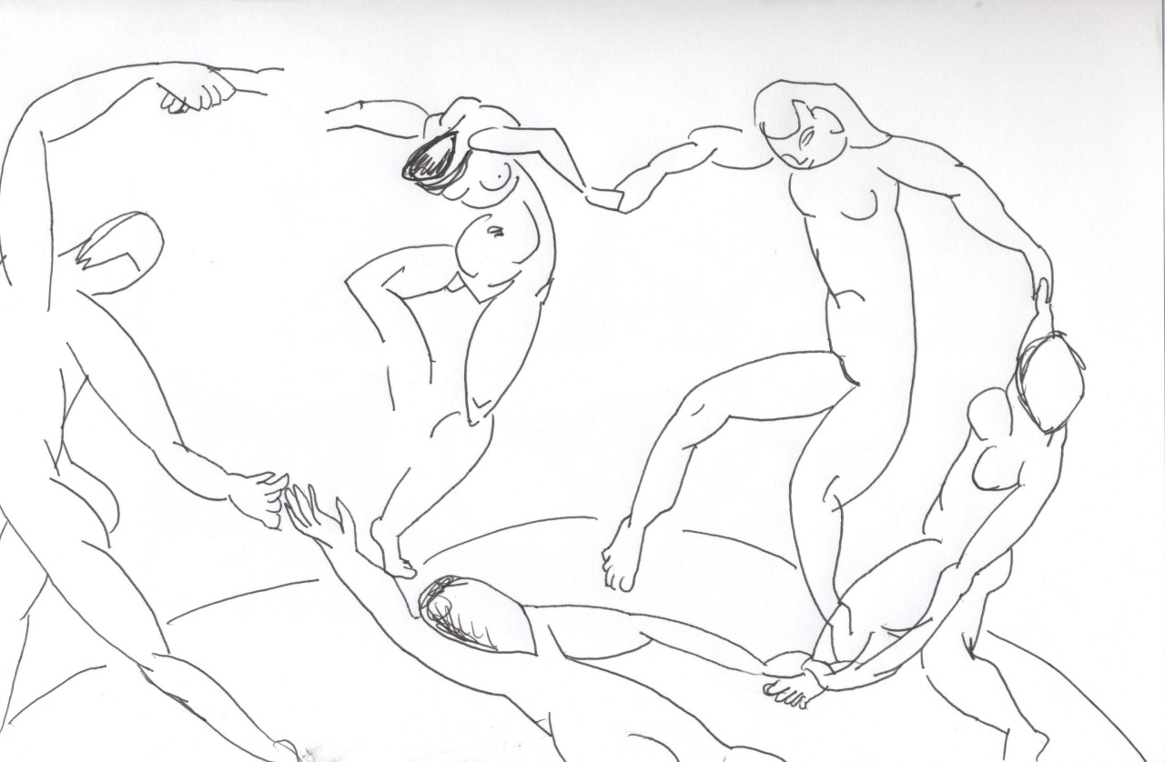 matisse fondation louis vuitton dessin danse