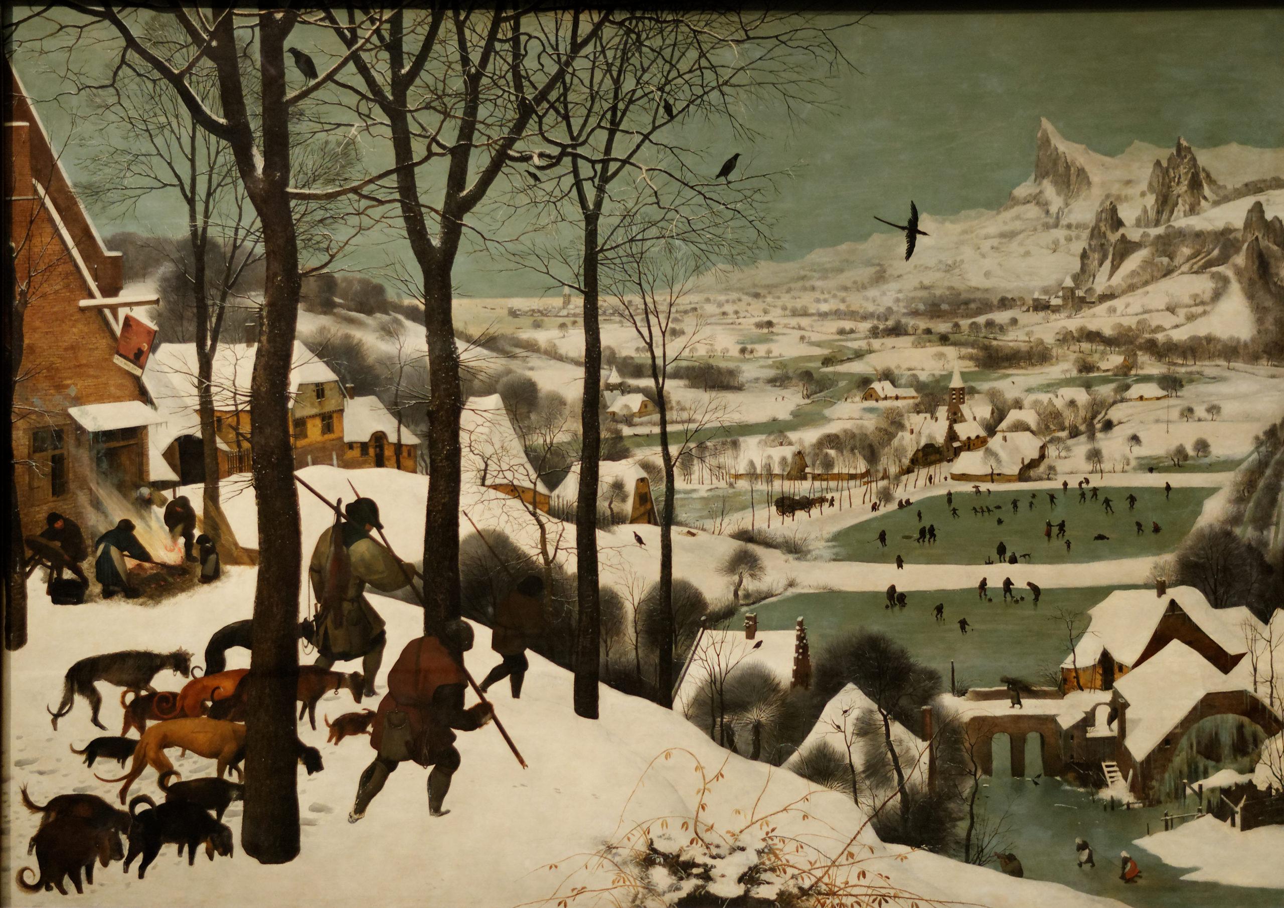 Les chasseurs dans la neige - Brueghel l_Ancien