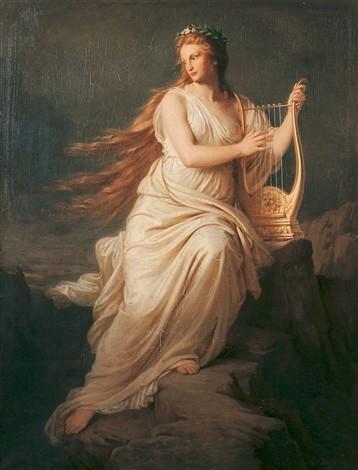 Carl Bertling, huile sur toile, Lorelei, 1871