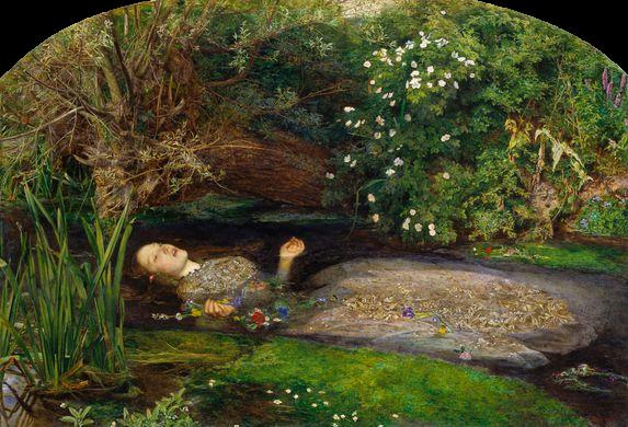 Millais, Ophélie, 1851-52.png