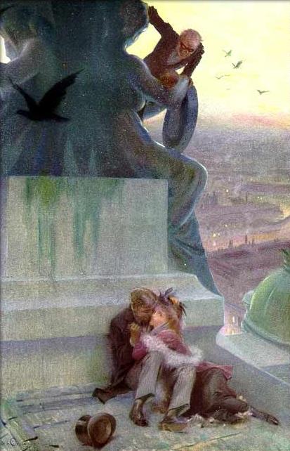 Aquarelle d'André Castaigne illustrant la première édition américaine du roman (1911).jpg