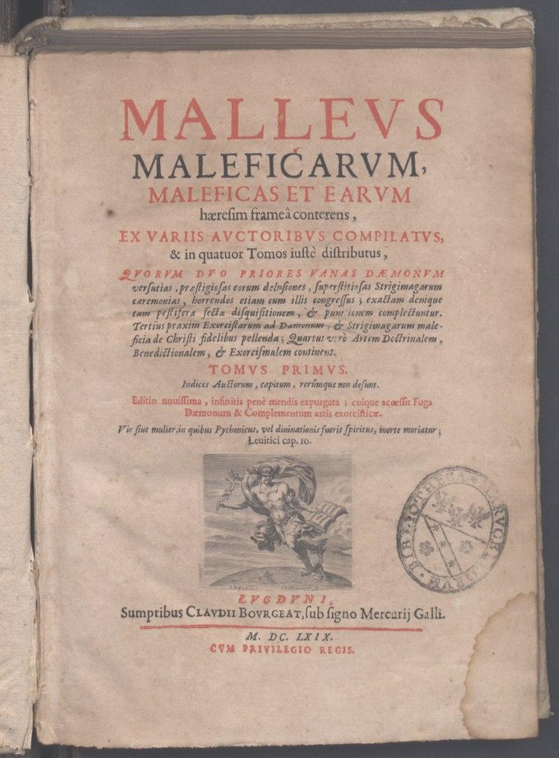 INSTITORIS et SPRANGER, Malleus Maleficarum, édition lyonnaise de 1669